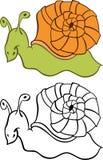 Σαλιγκάρι κινούμενων σχεδίων Στοκ Φωτογραφίες
