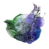 Σαλιγκάρι Watercolor Στοκ Εικόνες
