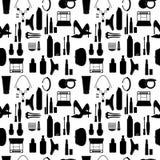 Σαλόνι, καλλυντικά και εξαρτήματα τέχνης ομορφιάς Διάνυσμα για την ομορφιά Στοκ εικόνες με δικαίωμα ελεύθερης χρήσης