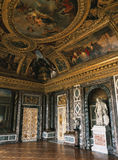 Σαλόνι της Αφροδίτης, μαρμάρινοι τοίχος και άγαλμα στο παλάτι των Βερσαλλιών, Γαλλία Στοκ Εικόνα