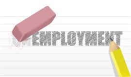 Σβήστε την έννοια ανεργίας διανυσματική απεικόνιση