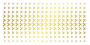 Σβήστε τη χρυσή ημίτοή σειρά διανυσματική απεικόνιση