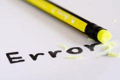 Σβήστε το λάθος λέξης με μια λαστιχένια έννοια της εξάλειψης στοκ εικόνες με δικαίωμα ελεύθερης χρήσης