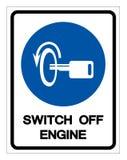 Σβήστε το σημάδι συμβόλων μηχανών, διανυσματική απεικόνιση, απομονώστε στην άσπρη ετικέτα υποβάθρου EPS10 απεικόνιση αποθεμάτων