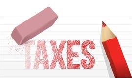 Σβήστε το σχέδιο απεικόνισης φορολογικής έννοιας ελεύθερη απεικόνιση δικαιώματος