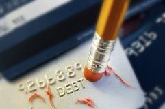 Σβήστε το χρέος στοκ φωτογραφίες με δικαίωμα ελεύθερης χρήσης