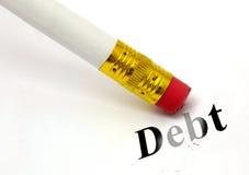Σβήστε το χρέος στοκ φωτογραφία