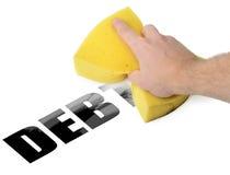 Σβήστε το χρέος στοκ εικόνα με δικαίωμα ελεύθερης χρήσης