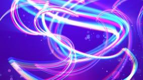 Σγουρά λωρίδες στο ιώδες υπόβαθρο διανυσματική απεικόνιση