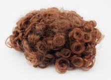 Σγουρή καφετιά περούκα στοκ φωτογραφίες με δικαίωμα ελεύθερης χρήσης