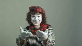 Σγουρός-μαλλιαρός mime απόθεμα βίντεο