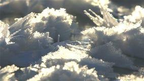 Σγουρός παγωμένος πάγος στις ακτές της Βόρεια Θάλασσας φιλμ μικρού μήκους