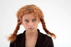 σγουρό πορτρέτο redhead Στοκ Εικόνες