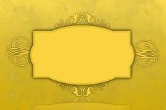 Σγουρό χρυσό πλαίσιο για μια υπογραφή ή άλλο κείμενο Στοκ εικόνες με δικαίωμα ελεύθερης χρήσης