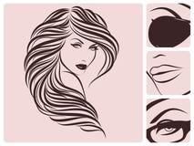 σγουρό hairstyle μακροχρόνιο ελεύθερη απεικόνιση δικαιώματος