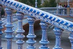 Σεβίλη, Ανδαλουσία, Ισπανία - Plaza της Ισπανίας στη Σεβίλη, λεπτομέρεια Στοκ εικόνες με δικαίωμα ελεύθερης χρήσης