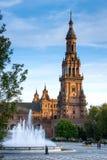 Σεβίλη, Ανδαλουσία, Ισπανία - Plaza της Ισπανίας στη Σεβίλη Στοκ εικόνα με δικαίωμα ελεύθερης χρήσης