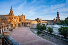 Σεβίλη, Ανδαλουσία, Ισπανία - Plaza της Ισπανίας στη Σεβίλη Στοκ Εικόνα