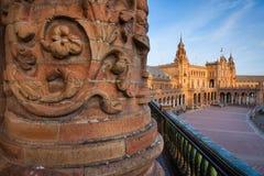 Σεβίλη, Ανδαλουσία, Ισπανία - Plaza της Ισπανίας στη Σεβίλη Στοκ Φωτογραφίες