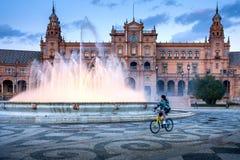 Σεβίλη, Ανδαλουσία, Ισπανία - Plaza της Ισπανίας στη Σεβίλη Στοκ φωτογραφίες με δικαίωμα ελεύθερης χρήσης