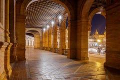 Σεβίλη Ισπανικό τετράγωνο ή Plaza de Espana Στοκ Εικόνα