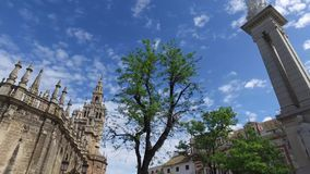 Σεβίλη, Ανδαλουσία, Ισπανία - 14 Απριλίου 2016: Καθεδρικός ναός της Σεβίλης απόθεμα βίντεο