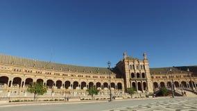 Σεβίλη, Ανδαλουσία, Ισπανία - 14 Απριλίου 2016: Πλατεία της Ισπανίας απόθεμα βίντεο