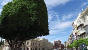 Σεβίλη, Ανδαλουσία, Ισπανία - 18 Απριλίου 2016: Plaza de Δημαρχείο του Σαν Φρανσίσκο, Σεβίλη απόθεμα βίντεο