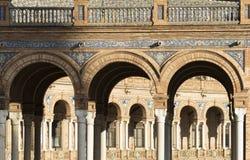 Σεβίλλη Ανδαλουσία, Ισπανία: Plaza de Espana Στοκ Φωτογραφία