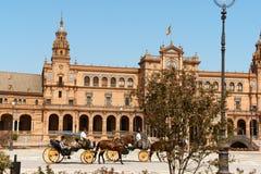 Palacio Espanol στη Σεβίλη, Ισπανία Στοκ Εικόνα
