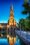 Σεβίλη, Ισπανία: Plaza de Espana, πλατεία της Ισπανίας Στοκ φωτογραφίες με δικαίωμα ελεύθερης χρήσης