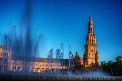 Σεβίλη, Ισπανία: Plaza de Espana, πλατεία της Ισπανίας Στοκ Φωτογραφία