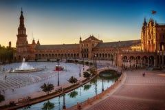 Σεβίλη, Ισπανία: Plaza de Espana, πλατεία της Ισπανίας Στοκ Εικόνα