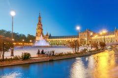 Σεβίλη Ισπανικό τετράγωνο ή Plaza de Espana Στοκ φωτογραφίες με δικαίωμα ελεύθερης χρήσης