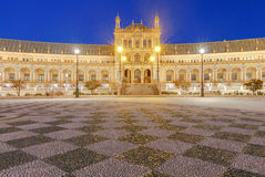 Σεβίλη Ισπανικό τετράγωνο ή Plaza de Espana Στοκ εικόνα με δικαίωμα ελεύθερης χρήσης
