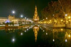 Σεβίλη Ισπανικό τετράγωνο ή Plaza de Espana Στοκ φωτογραφία με δικαίωμα ελεύθερης χρήσης