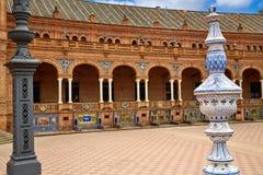 Σεβίλη Σεβίλλη Plaza de Espana Ανδαλουσία Ισπανία Στοκ εικόνα με δικαίωμα ελεύθερης χρήσης