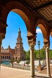 Σεβίλη Σεβίλλη Plaza Espana Ανδαλουσία Ισπανία Στοκ Φωτογραφίες