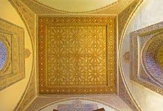 Σεβίλη - το mudejar ανώτατο όριο σε Alcazar της Σεβίλης Στοκ Εικόνες