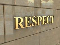 Σεβασμός λέξης Στοκ εικόνες με δικαίωμα ελεύθερης χρήσης