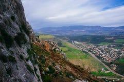 Σειρά Άγιων Τόπων - ΑΜ Απότομος βράχος Arbel Στοκ φωτογραφία με δικαίωμα ελεύθερης χρήσης