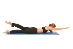 σειρά άσκησης pilates στοκ εικόνα