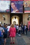 Σειρά αναμονής που παίρνει στην έκθεση του Leonardo, Μιλάνο Στοκ εικόνες με δικαίωμα ελεύθερης χρήσης
