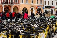 Σειρά αναμονής ποδηλάτων Στοκ Εικόνες