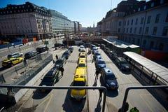 Σειρά αναμονής ταξί Στοκ Φωτογραφίες