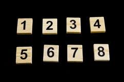 Σειρά αριθμών από το ένα έως οκτώ Στοκ φωτογραφίες με δικαίωμα ελεύθερης χρήσης