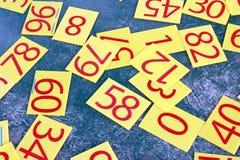 Σειρά αριθμών που χρωματίζεται στον πράσινο τοίχο Στοκ Φωτογραφίες