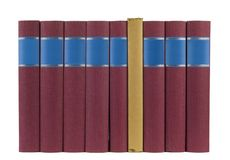 σειρά βιβλίων στοκ εικόνα με δικαίωμα ελεύθερης χρήσης