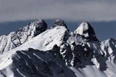 Σειρά βουνών βελόνων Arves, στις γαλλικές Άλπεις στοκ φωτογραφία