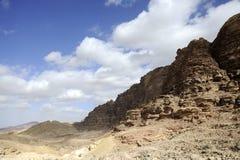 Σειρά βουνών ερήμων, Ιορδανία Στοκ Φωτογραφία